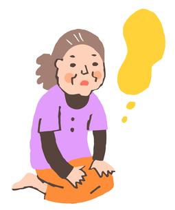 認知症のシニア女性のイラスト素材 [FYI04304114]