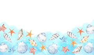 貝殻フレームのイラスト素材 [FYI04304490]