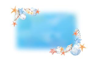 貝殻フレームのイラスト素材 [FYI04304491]