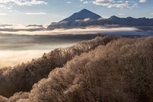 雪と雲海と武甲山の写真素材 [FYI04304525]