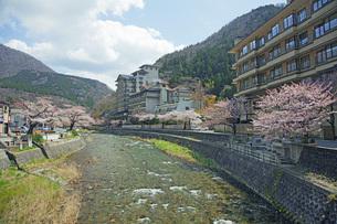 春のあつみ温泉の写真素材 [FYI04305167]