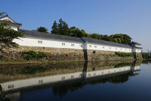 日本100名城の彦根城 中堀から望む開国記念館の写真素材 [FYI04305612]