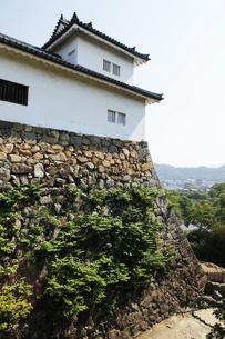 日本100名城の彦根城 重要文化財の櫓の写真素材 [FYI04305618]