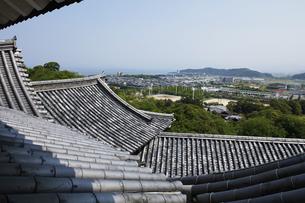 日本100名城の彦根城 天守から琵琶湖を望むの写真素材 [FYI04305624]