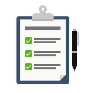 チェックリストとペンのイラストのイラスト素材 [FYI04305973]