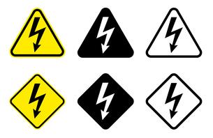 高電圧標識のセットのイラスト素材 [FYI04305975]