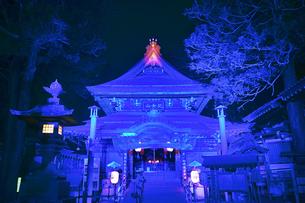 上田氷灯ろう夢まつりの北向観音のライトアップの写真素材 [FYI04306289]
