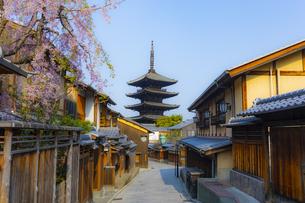 春の京都・八坂の塔の写真素材 [FYI04306917]