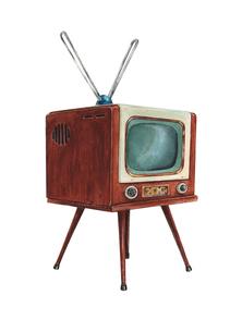 レトロなテレビのイラスト素材 [FYI04306952]