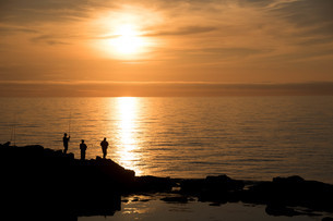 夕暮れの海の写真素材 [FYI04307058]