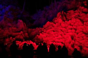 芦ヶ久保の氷柱 ライトップされた埼玉県横瀬町冬のイベント  の写真素材 [FYI04307279]