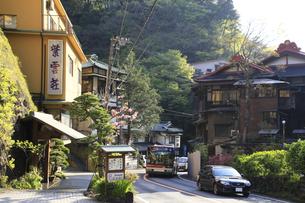箱根塔ノ沢温泉付近の旅館ホテル群 の写真素材 [FYI04307566]
