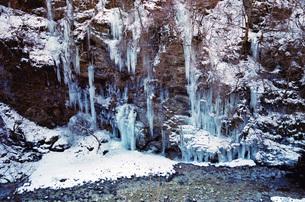 埼玉県秩父の三十槌の氷柱  Misotsuchi icicleの写真素材 [FYI04307626]