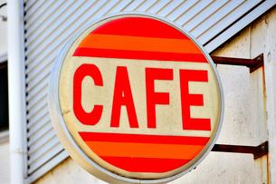 カフェの看板の写真素材 [FYI04307740]