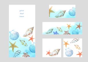 貝殻フレームのイラスト素材 [FYI04307792]