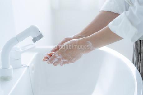 手洗いをする女の子の手元の写真素材 [FYI04307845]