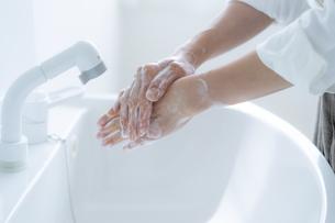手洗いをする女の子の手元の写真素材 [FYI04307846]