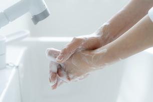 手洗いをする女の子の手元の写真素材 [FYI04307850]