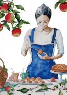 お菓子作り りんご アップルのイラスト素材 [FYI04307908]