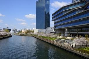 大阪城公園から大川と大阪ビジネスパークの写真素材 [FYI04307954]