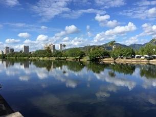 水面に映る景色 アラ・ワイ運河にての写真素材 [FYI04307961]