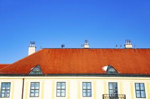 シェーンブルン宮殿  庭園より屋根を望む ウィーン  オーストリアの写真素材 [FYI04308046]