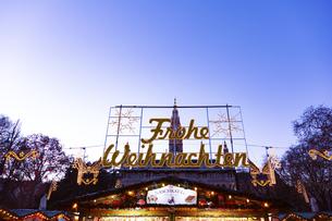 クリスマスマーケット ウィーン  オーストリアの写真素材 [FYI04308049]