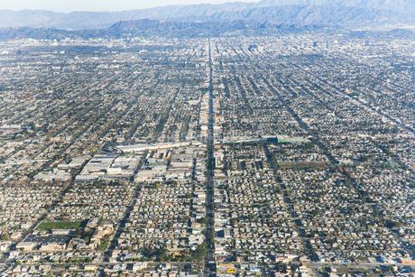ロサンゼルスの街並みの写真素材 [FYI04308181]