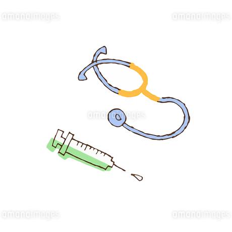 聴診器と注射器 のイラスト素材 [FYI04308247]