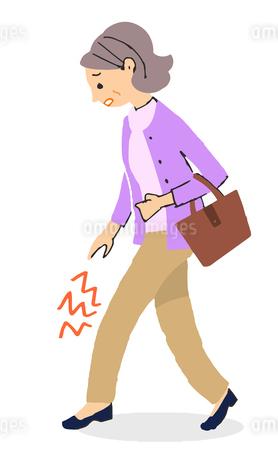 膝が痛い女性のイラスト素材 [FYI04308255]