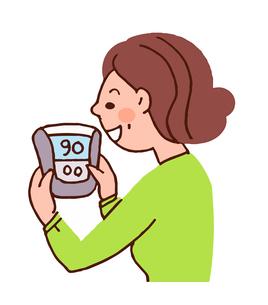 血圧を測る女性のイラスト素材 [FYI04308257]