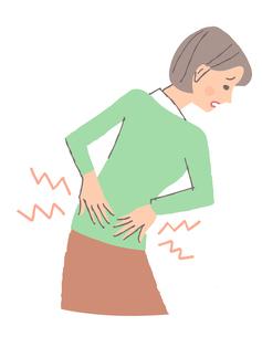 腰痛の女性のイラスト素材 [FYI04308258]