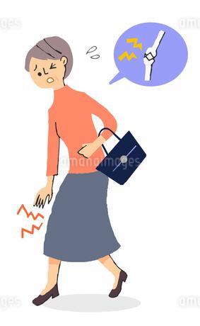 膝関節が痛い女性のイラスト素材 [FYI04308259]