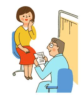 診察室での医師と患者のイラスト素材 [FYI04308271]