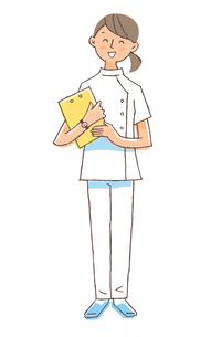 笑顔で立っている医療従事者 女性のイラスト素材 [FYI04308274]