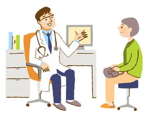 診察 医師と患者のイラスト素材 [FYI04308279]