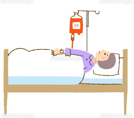 輸血をする女性のイラスト素材 [FYI04308283]