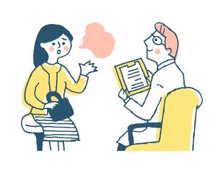 診察 医者と女性患者のイラスト素材 [FYI04308818]