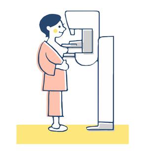 婦人科 乳がん検診 マンモグラフィーのイラスト素材 [FYI04308819]