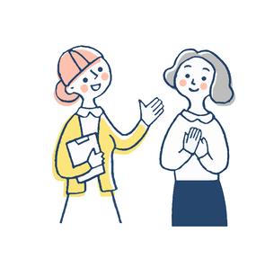 笑顔の患者と看護師のイラスト素材 [FYI04308821]
