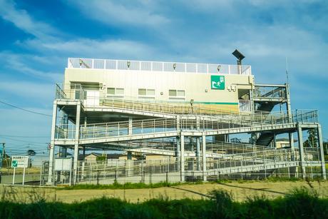 津波避難タワー(宮城県仙台市)の写真素材 [FYI04308994]