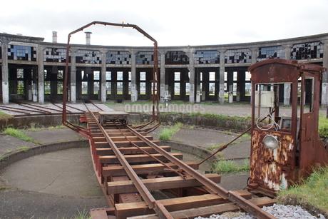 豊後森扇形機関車庫跡の写真素材 [FYI04309192]