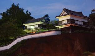 夜の臼杵城址の写真素材 [FYI04309193]