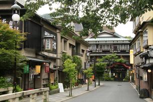 箱根湯本温泉の旅館ホテル食堂街 の写真素材 [FYI04309360]