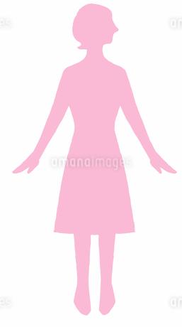 女性のシルエットのイラスト素材 [FYI04309470]