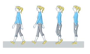 正しい歩き方 女性のイラスト素材 [FYI04309495]