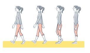 正しい歩き方 女性のイラスト素材 [FYI04309497]
