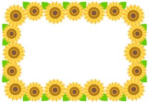 ひまわりのフレーム イラストのイラスト素材 [FYI04309659]