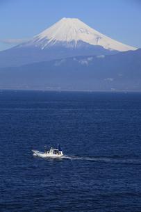 伊豆半島西浦から眺める駿河湾と世界文化遺産の富士山の写真素材 [FYI04309730]