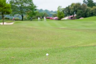 ゴルフ場のティーグラウンドの写真素材 [FYI04309880]